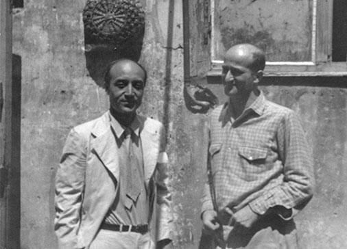 Consagra e Isamo Noguchi, Roma, 1949