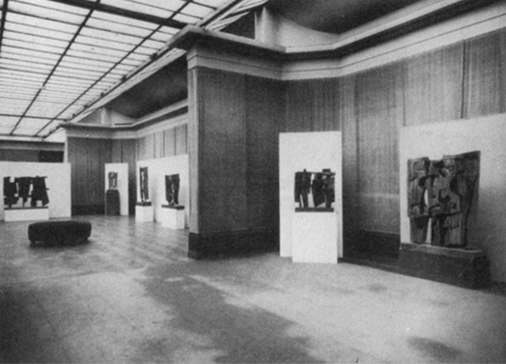 Mostra Consagra Sculptures al Palais des Beaux-Arts, Bruxelles, 1958.