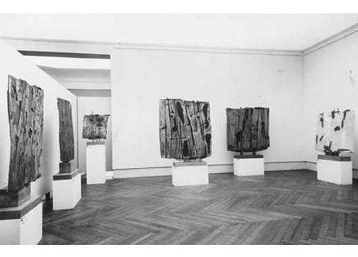 Sala personale di Consagra nella XXX Esposizione Biennale Internazionale d'Arte, Venezia, 1960. Foto Giacomelli