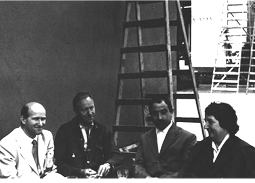 1956 Venice Biennale, Consagra with Lynn Chadwick, Cesar Baldaccini, and Germaine Richier