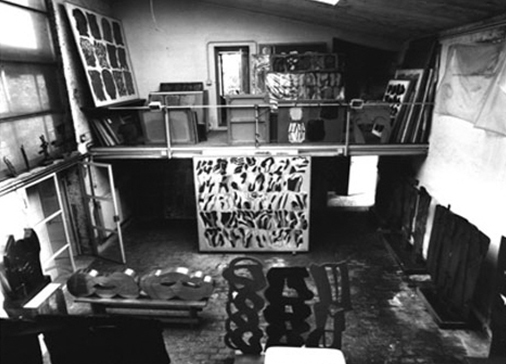 Consagra's studio in Rome, 2005. Photo: C. Abate