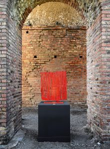 Pietro Consagra, Ferro trasparente rosso, 1965, ferro dipinto, 94,2 x 75 x 4 cm